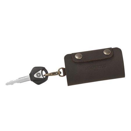 Skórzane etui na klucze Sempertus K-01/CH Brąz