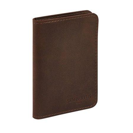Skórzany Cienki Portfel Męski Slim Wallet Sempertus PM-08