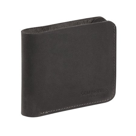 Skórzany Cienki Portfel Męski Slim Wallet Sempertus PM-13/CH Czarny